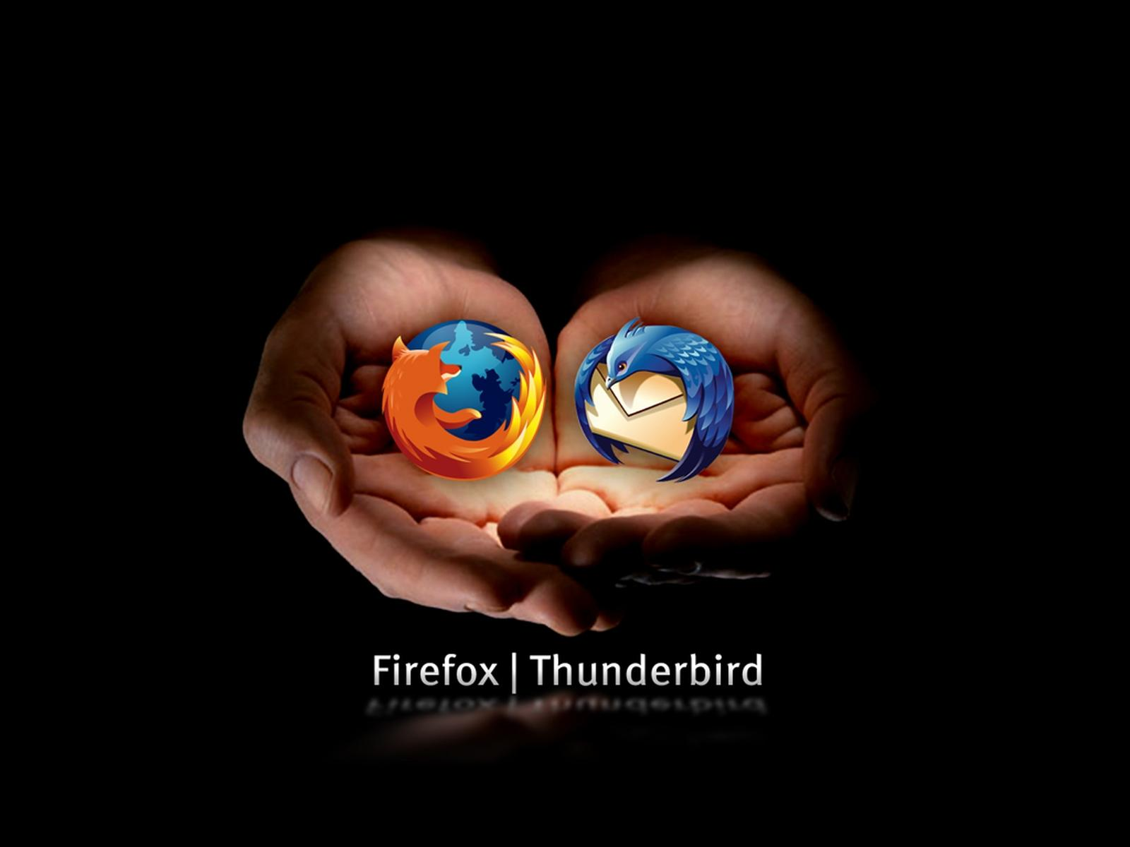 firefox thunderbird in hand